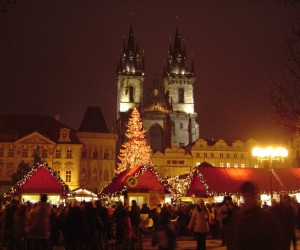 A silver Christmas in Prague