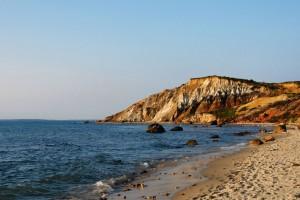 Gay Head Cliffs - Moshup Public Beach - Martha's Vineyard  - Boston - USA.